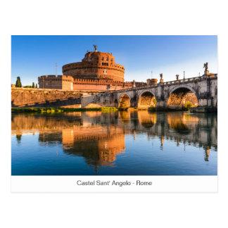 Carte postale avec Castel Sant Angelo à Rome