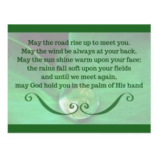 Carte postale avec la bénédiction irlandaise