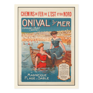 Carte postale avec la copie d'affiche d'été de
