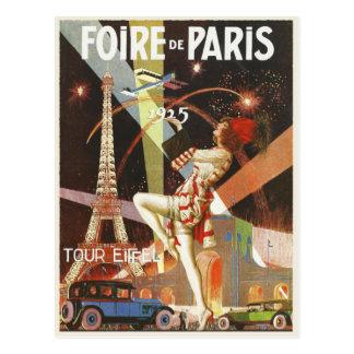 Carte postale avec la copie d'art déco de Paris
