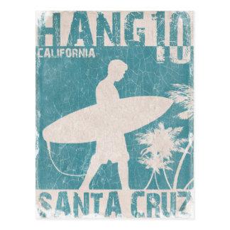 Carte postale avec la copie de surfer de Santa Cru