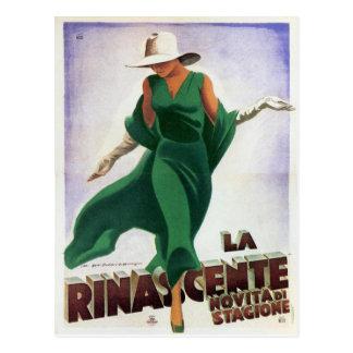 Carte postale avec la copie italienne vintage de
