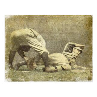 Carte postale avec la copie vintage de base-ball