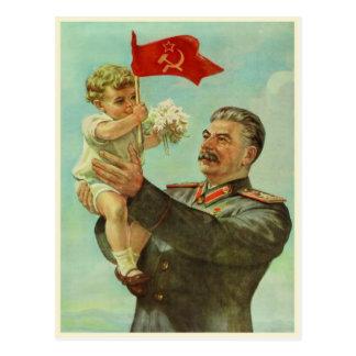 Carte postale avec la copie vintage de propagande