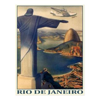 Carte postale avec la copie vintage de Rio de Jane