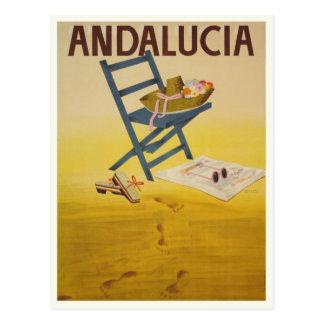 Carte postale avec la copie vintage d'Espagne