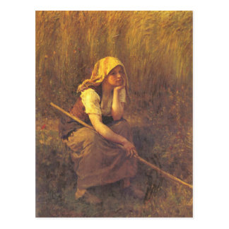 Carte postale avec la peinture bretonne de Jules