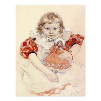 Carte postale avec la peinture de Carl Larsson