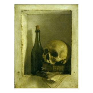 Carte postale avec la peinture de crâne