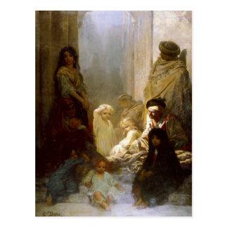 Carte postale avec la peinture de Gustave Dore