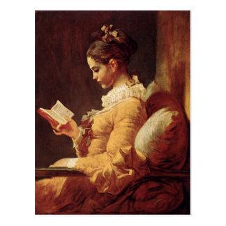 Carte postale avec la peinture de Jean-Honore