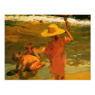 Carte postale avec la peinture de Joaquin Sorolla