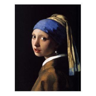 Carte postale avec la peinture de Johannes Vermeer