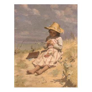 Carte postale avec la peinture de peau de Paul