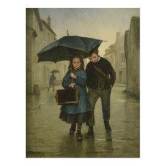 Carte postale avec la peinture d'Edouard Frere