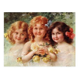Carte postale avec la peinture d'Emile Vernon