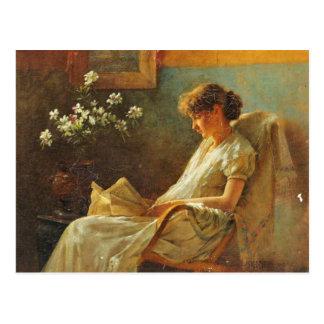 Carte postale avec la peinture d'Eva Dora Cowdery
