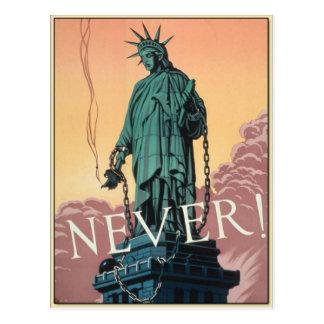 Carte postale avec la propagande américaine