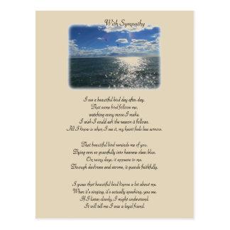 Carte Postale Avec la sympathie : Bel oiseau
