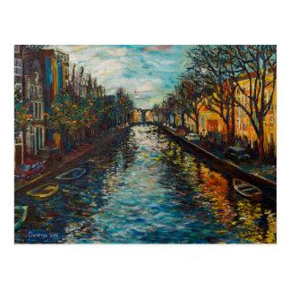 Carte postale avec la vue du ` s d'Amsterdam