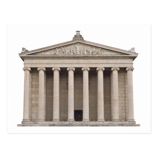 Carte postale avec l 39 architecture grecque classiqu zazzle for Architecture grecque