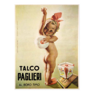 Carte postale avec le bébé mignon sur l'affiche vi