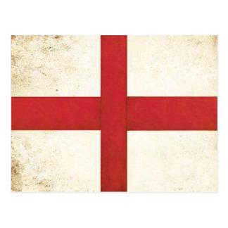 Carte postale avec le drapeau anglais dans le