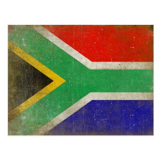Carte postale avec le drapeau d'Afrique du Sud