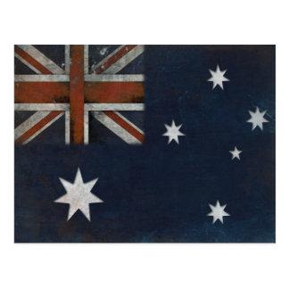 Carte postale avec le drapeau d'Australie