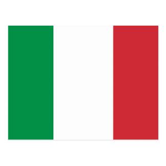 Carte postale avec le drapeau de l Italie