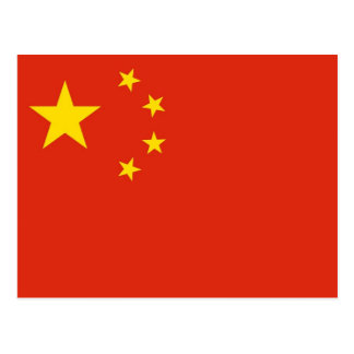 Carte postale avec le drapeau de la Chine