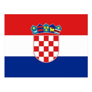Carte postale avec le drapeau de la Croatie