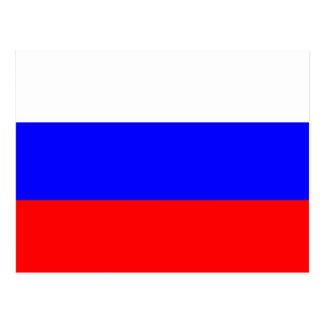 Carte postale avec le drapeau de la Russie