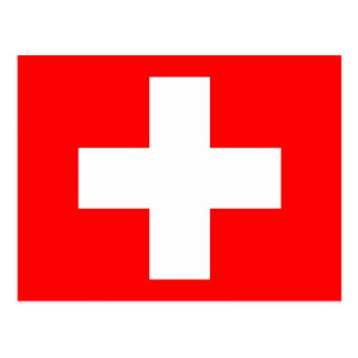 Carte postale avec le drapeau de la Suisse