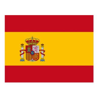 Carte postale avec le drapeau de l'Espagne