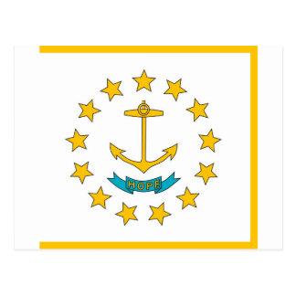 Carte postale avec le drapeau de l'état d'Île de