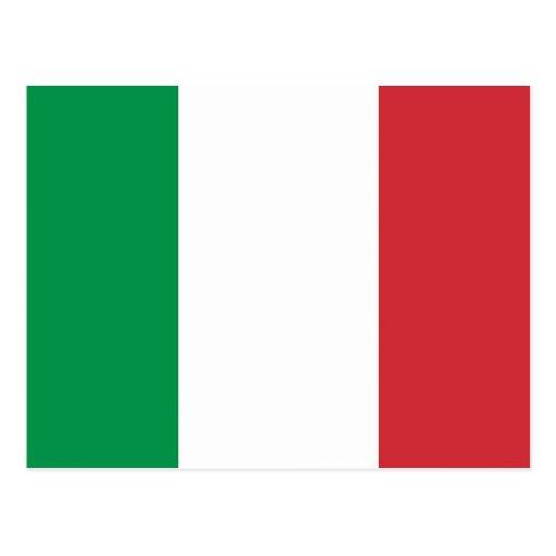 Carte postale avec le drapeau de l'Italie