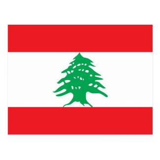 Carte postale avec le drapeau du Liban