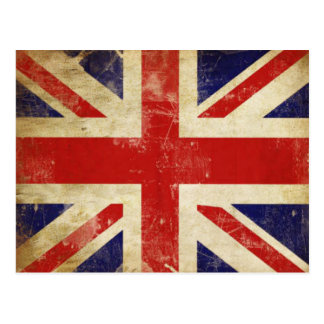 Carte postale avec le drapeau vintage du