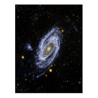 Carte postale avec l'image de l'espace