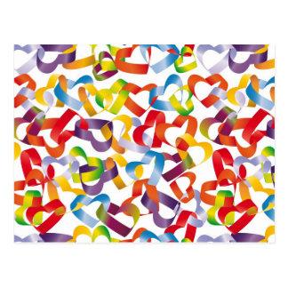 Carte postale avec sans couture décoratif avec 3D
