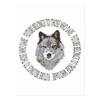 Carte Postale avenir de loup ceux osent