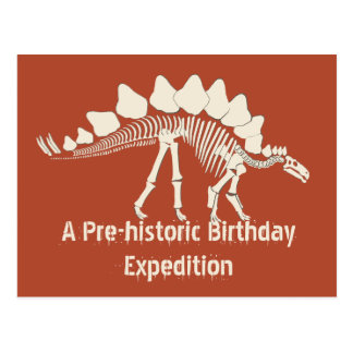 Carte Postale Aventure d'anniversaire de dinosaure
