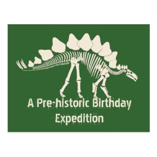 Carte Postale Aventure d'anniversaire de fouille de dinosaure