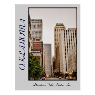 Carte Postale Avenue de l'Oklahoma, Tulsa du centre, Boston,