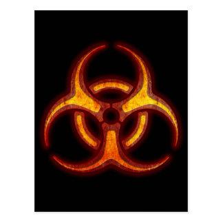 Carte Postale Avertissement de zombi de Biohazard