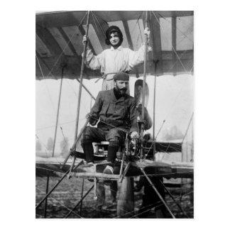 Carte Postale Aviateur Henri Farman et épouse, les années 1900