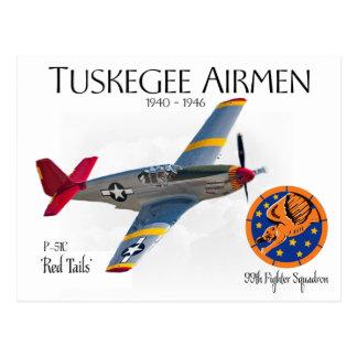Carte Postale Aviateurs de Tuskegee 1940-1946 WW II
