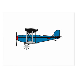 Carte Postale Avion de biplan