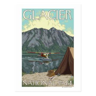 Carte Postale Avion de Bush et pêche - parc national de glacier,